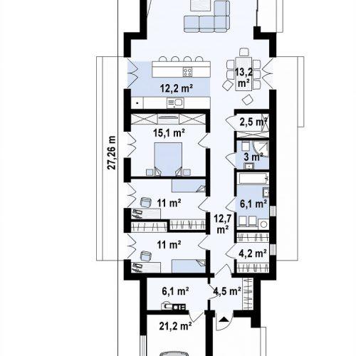 План первого этажа проекта Zx129