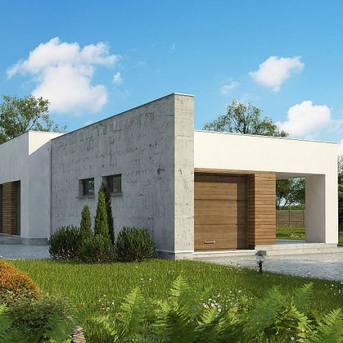 Фото проекта дома Zx129 вид с улицы