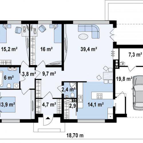 План первого этажа проекта Zx13