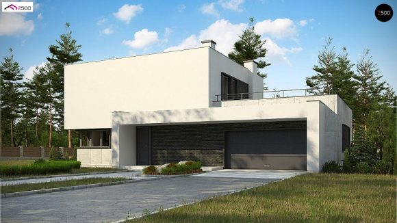 Фото проекта дома Zx130 вид с улицы