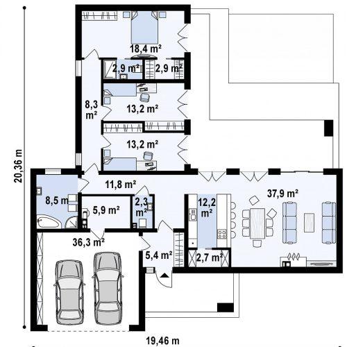 План первого этажа проекта Zx133