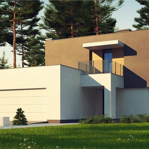 Фото проекта дома Zx134 вид с улицы