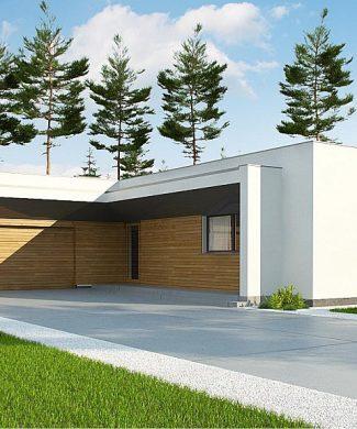 Фото проекта дома Zx135 вид с улицы