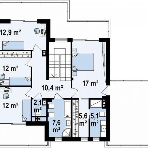 План второго этажа проекта Zx139