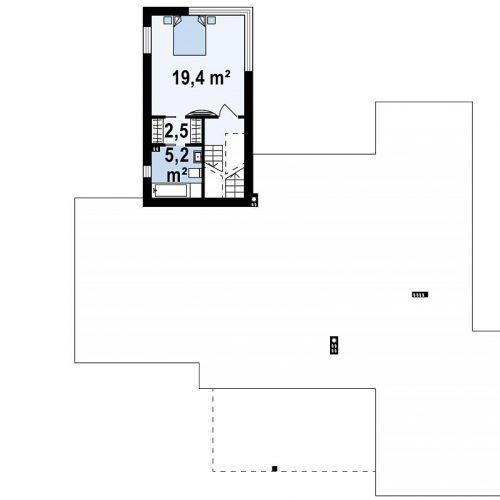 План второго этажа проекта Zx140