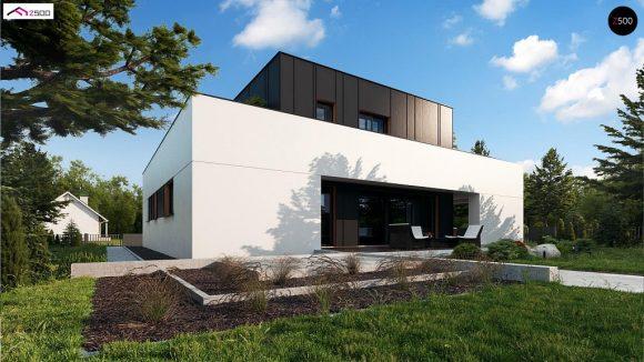 Фото проекта дома Zx143 вид с улицы