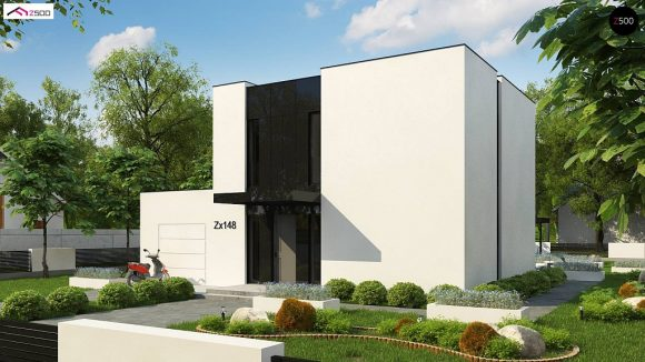 Фото проекта дома Zx148 вид с улицы