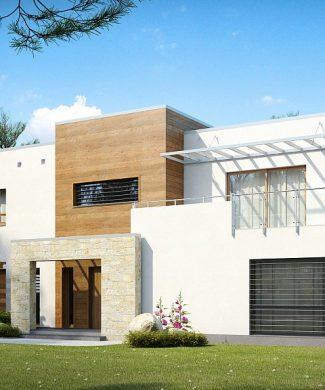 Фото проекта дома Zx15 вид с улицы