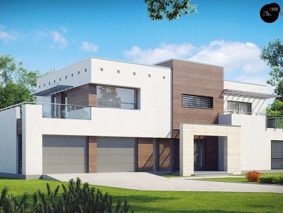 Фото проекта дома Zx15 GL2 P вид с улицы