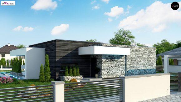 Фото проекта дома Zx153 вид с улицы