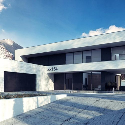 Фото проекта дома Zx154 вид с улицы