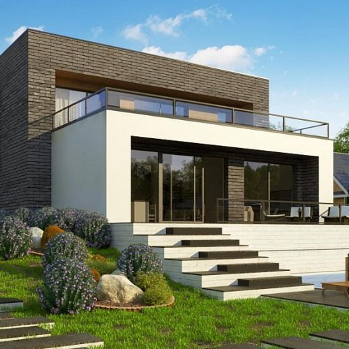 Фото проекта дома Zx155 вид 2