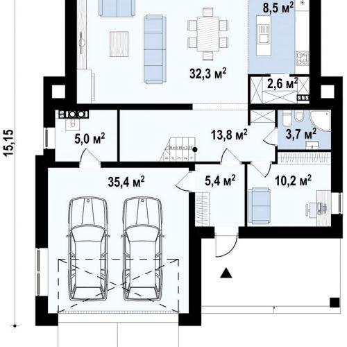 План первого этажа проекта Zx155