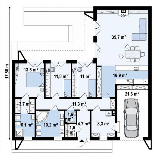 План первого этажа проекта Zx160