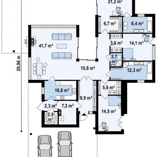 План первого этажа проекта Zx183