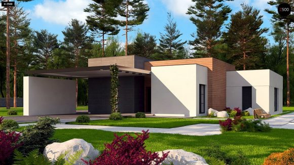 Фото проекта дома Zx183 вид с улицы