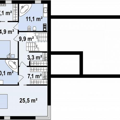 План второго этажа проекта Zx190