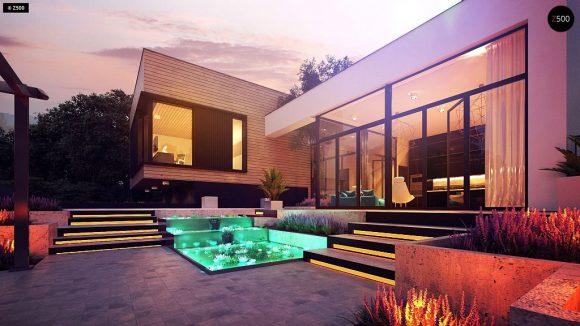 Фото проекта дома Zx190 вид с улицы