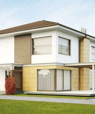Фото проекта дома Zx2 вид с улицы