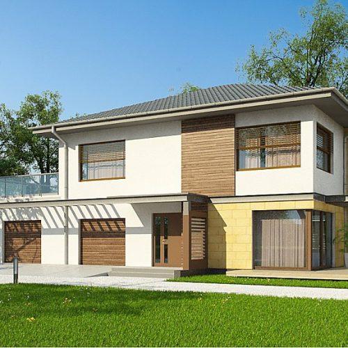 Фото проекта дома Zx2 GL2 вид с улицы