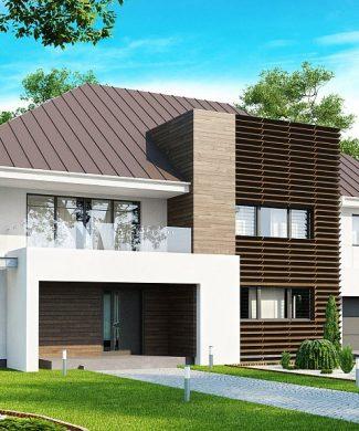 Фото проекта дома Zx20 вид с улицы
