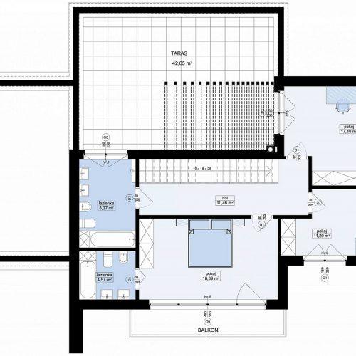 План второго этажа проекта Zx204