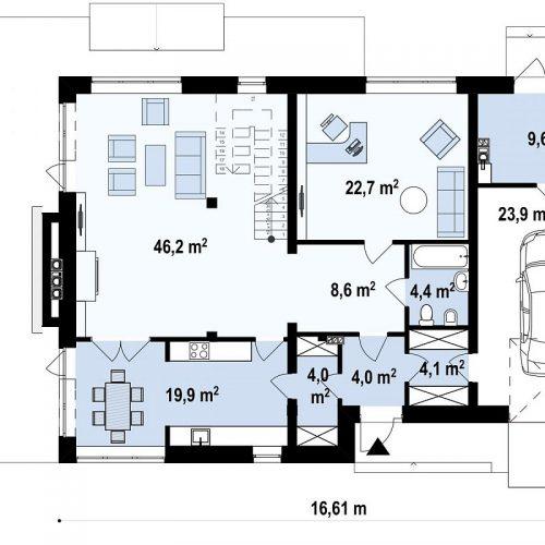 План первого этажа проекта Zx21