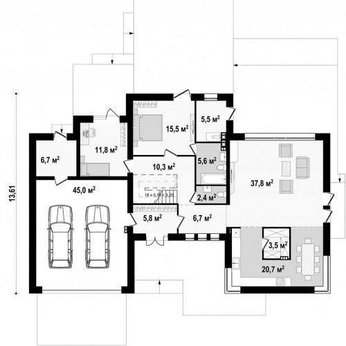 План первого этажа проекта Zx22