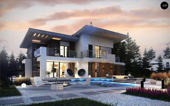 Фото проекта дома Zx22 вид с улицы