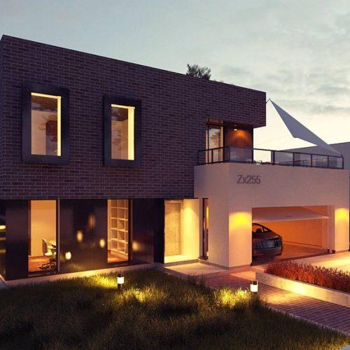 Фото проекта дома Zx255 вид 2