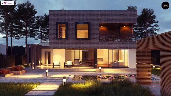 Фото проекта дома Zx255 вид с улицы