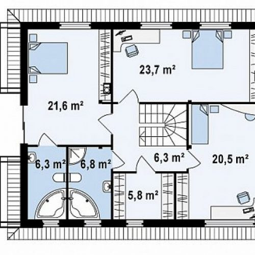 План второго этажа проекта Zx29 S