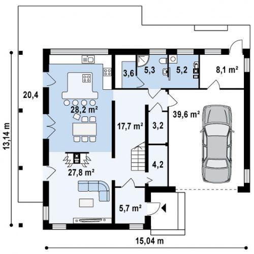 План первого этажа проекта Zx3