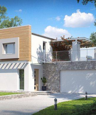 Фото проекта дома Zx3 вид с улицы