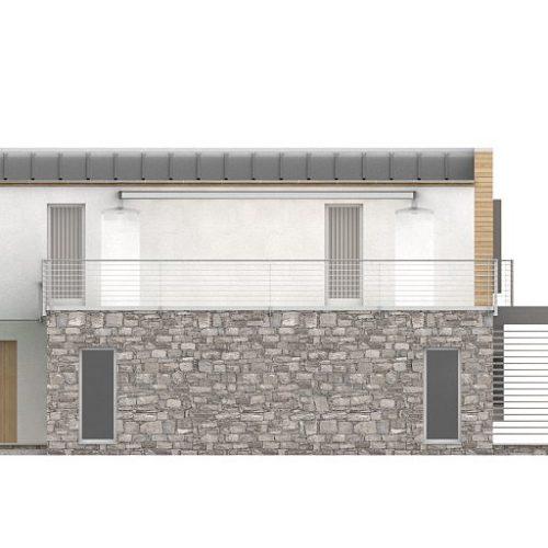Фасад дома Zx3 4