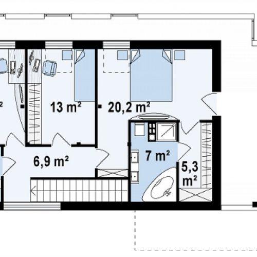 План второго этажа проекта Zx40