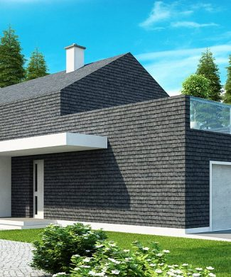Фото проекта дома Zx40 вид с улицы