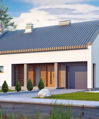 Фото проекта дома Zx43 вид с улицы