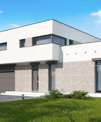 Фото проекта дома Zx46 GL2 вид с улицы