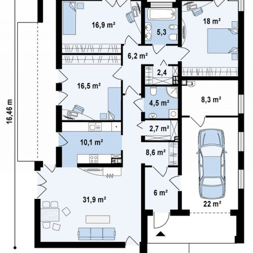 План первого этажа проекта Zx49