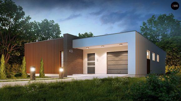 Фото проекта дома Zx49 вид с улицы