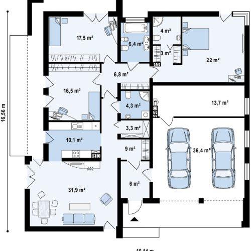 План первого этажа проекта Zx49 GP2