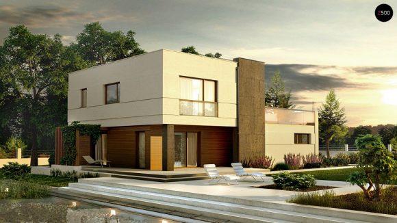 Фото проекта дома Zx54 вид с улицы