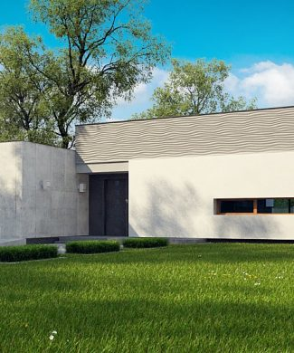 Фото проекта дома Zx56 вид с улицы