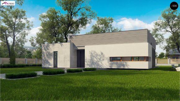 Фото проекта дома Zx56 bG вид с улицы