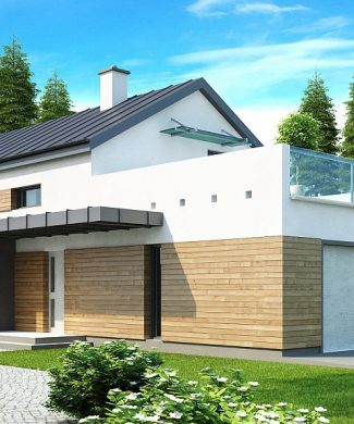 Фото проекта дома Zx60 вид с улицы