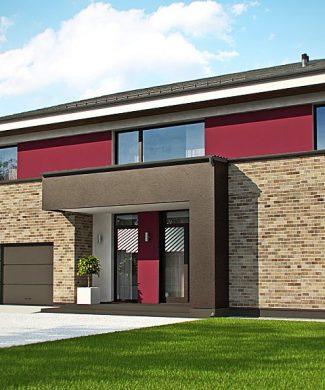 Фото проекта дома Zx61 вид с улицы