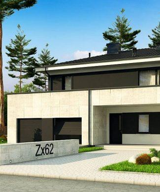 Фото проекта дома Zx62 A вид с улицы