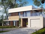 Фото проекта дома Zx63 s вид с улицы