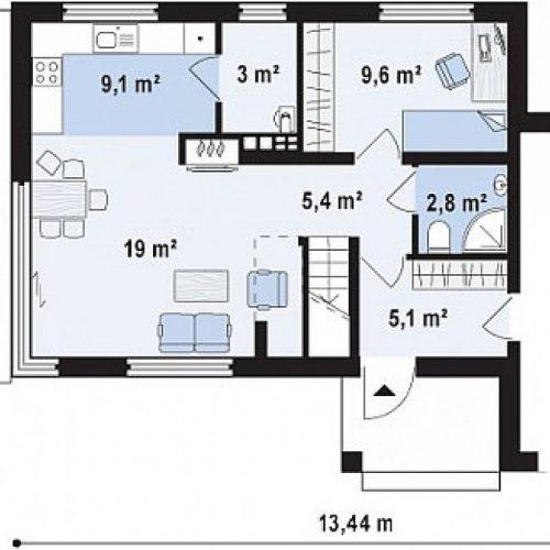 План первого этажа проекта Zx63 s